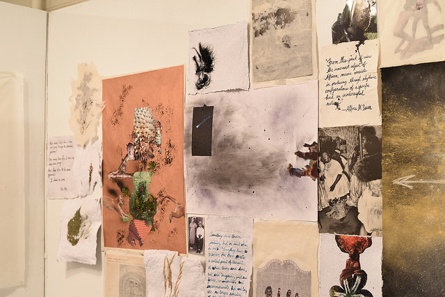 """Krista Franklin's exhibition, """"...to take root among the stars"""" at the CAS in September 2016"""